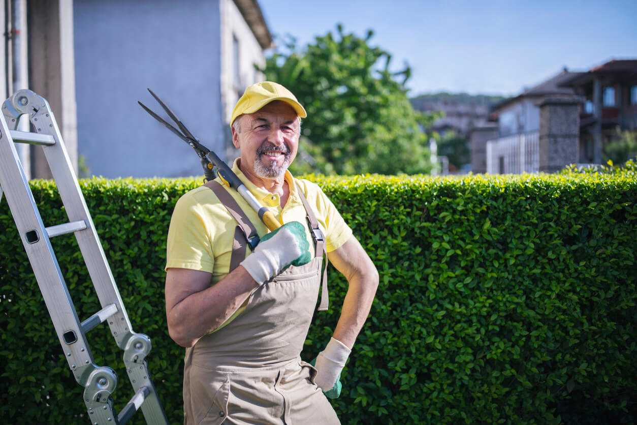 Portrait of professional who is not making billing errors in landscaping