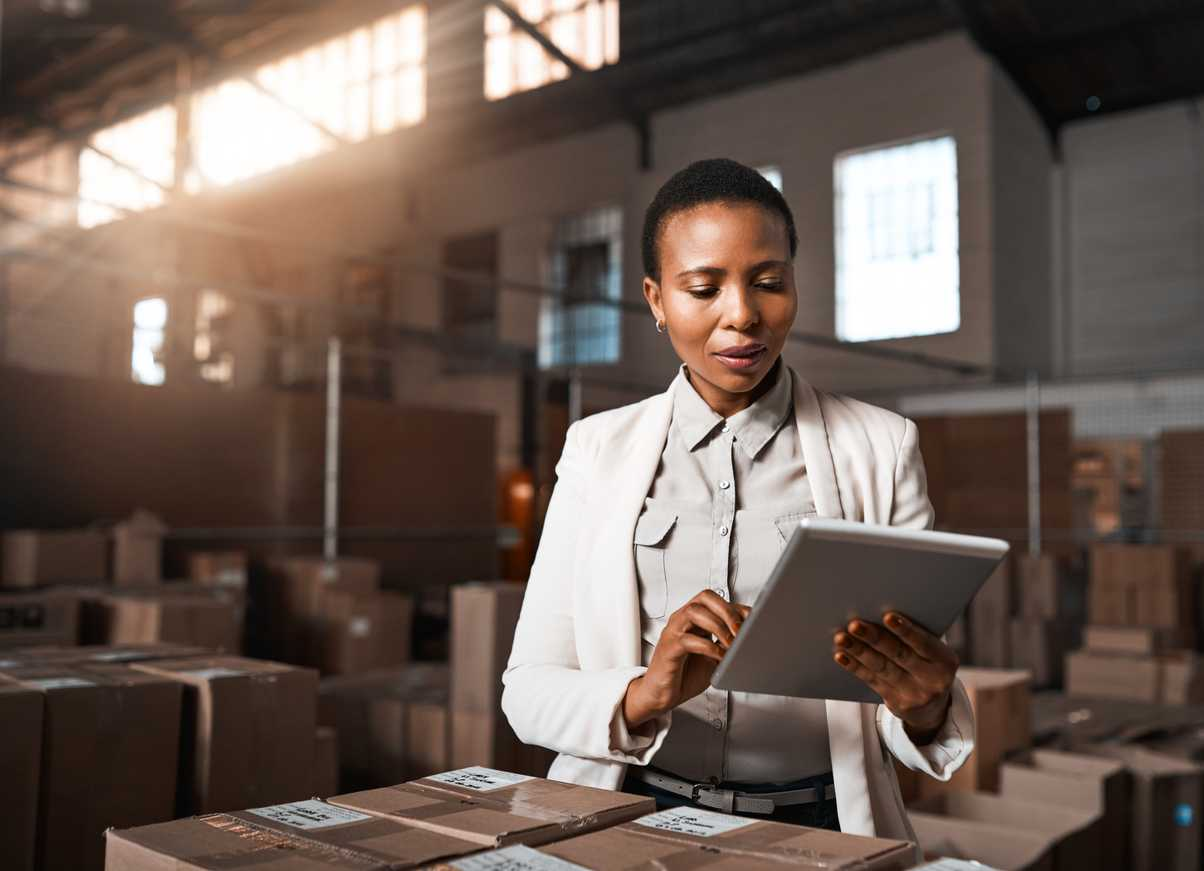 Business director assessing the value of a shipping audit as a cost containment strategy